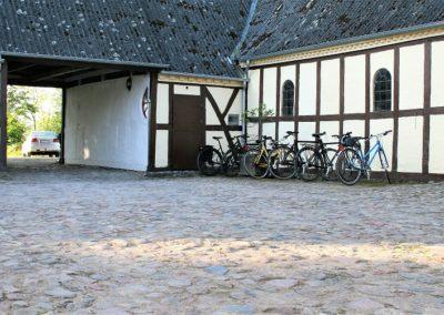 Cykler parkeret for natten