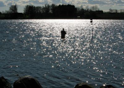 Lystfiskeri i fjorden ud for Rødkærgård