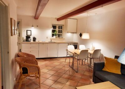Køkken og stue i ét i lejlighed